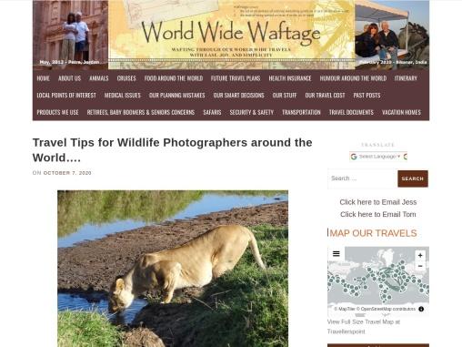 Travel tips for wildlife photographers around the world