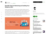 Best SEO Tools For Monitoring and Auditing Your Website in 2021