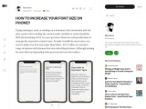 How to Increase Your Font Size on iPhone?