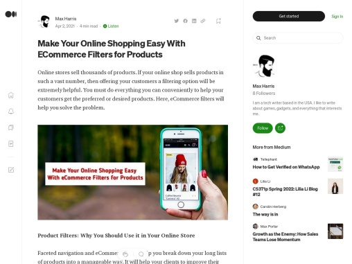 Make Your Online Shopping Easy With ECommerce Filters for Products