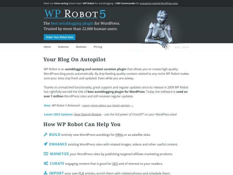 WP Robot Coupon Codes screenshot