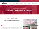 Moving Truck Rental in Toronto     Wrap and Move