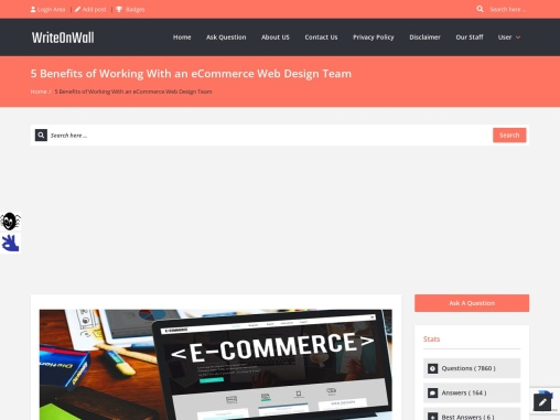 5 Benefits of Working With an eCommerce Web Design Team