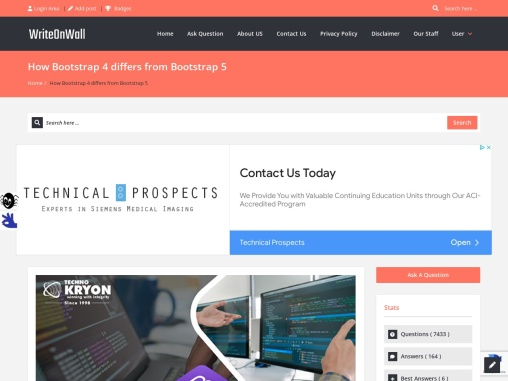 How Bootstrap 4 differs from Bootstrap 5