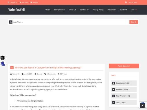 Why Do We Need a Copywriter in Digital Marketing Agency?