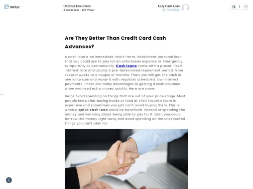 Are They Better Than Credit Card Cash  Advances?