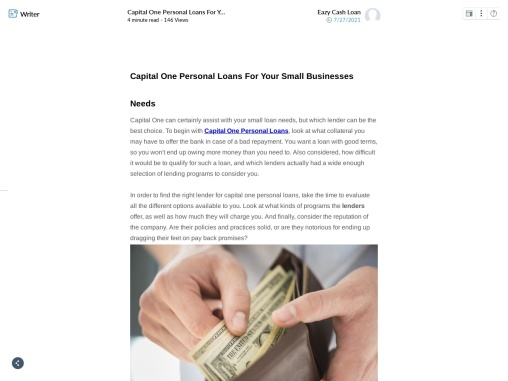 Capital One Personal Loans For Your Small Businesses  Needs