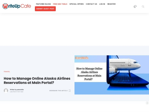How to Manage Online Alaska Airlines Reservations at Main Portal?