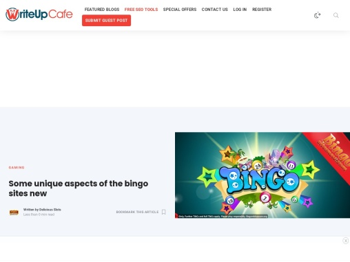 Some unique aspects of the bingo sites new