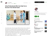 9 Key-professionals Who Can Help You to Recover From Stroke Faster