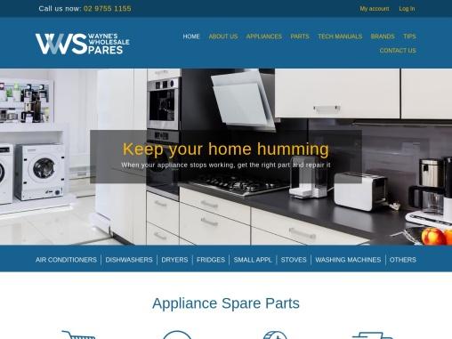 Waynes Wholesale Spares | Appliance Parts Wholesaler
