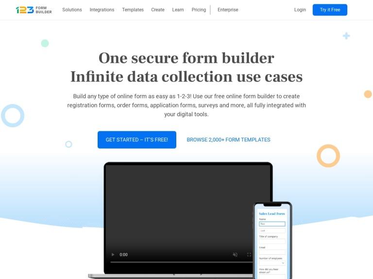123 Contact Form Coupon Codes screenshot