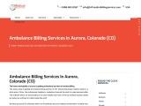 Ambulance Billing Services in Aurora, Colorado (CO)   24/7 Medical Billing Services