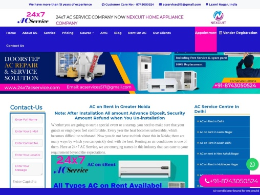 AC ON RENT IN GREATER NOIDA 24×7 AC SERVICE