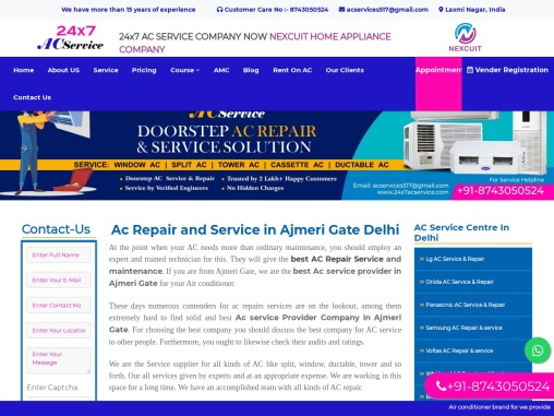 Ac Service In Ajmeri Gate Delhi    24×7 AC Service