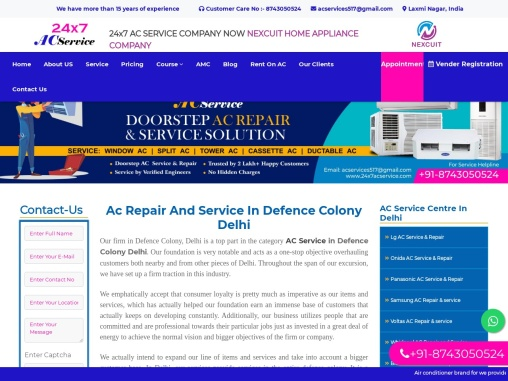 Ac Repair and Service in Defence Colony Delhi  24×7 AC Service
