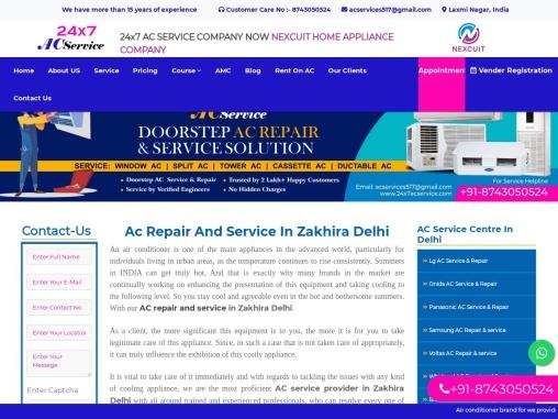 Ac Service in Zakhira Delhi | 24×7 AC Service