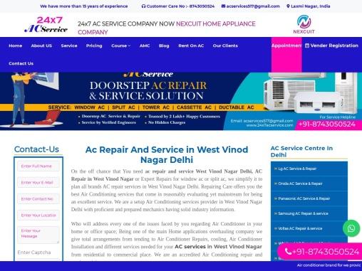 Ac Repair And Service in West Vinod Nagar Delhi