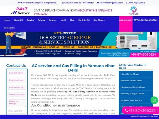 AC service and Gas Filling in Yamuna vihar Delhi    24×7 AC Service