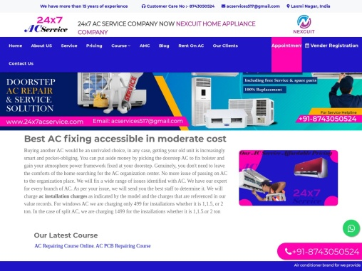 Ac gas filling charges | 24×7 Ac Service