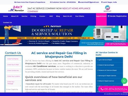 AC service and Repair Gas Filling in bhajanpura Delhi    24×7 AC Service