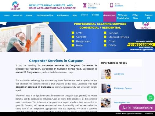Carpenter Services in Gurgaon   carpenter service in Sikanderpur  24×7 AC Company