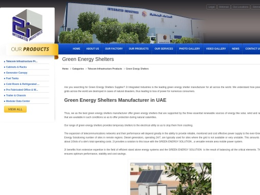 Green Energy Shelters Supplier in UAE