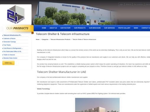 Telecom Shelter Manufacturer in UAE