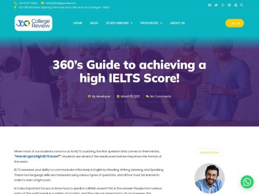 360'S GUIDE TO ACHIEVING A HIGH IELTS SCORE!
