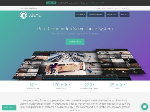 3dEYE Video surveillance system