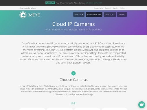 IP Cameras for Video Surveillance
