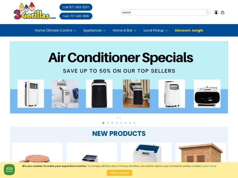 3Gorillas.com screenshot