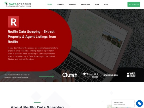 Redfin Property and Agent Listings Data Scraping