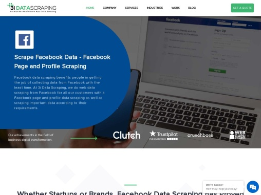 Facebook Page & Profile Data Scraping Services