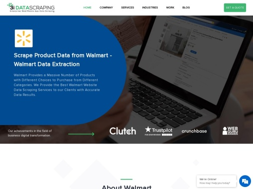 Walmart Product Data Extraction Services