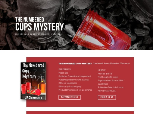 The Numbered Cups Mystery by JB Clemmens