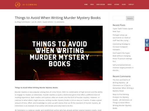 Things to Avoid When Writing Murder Mystery Books