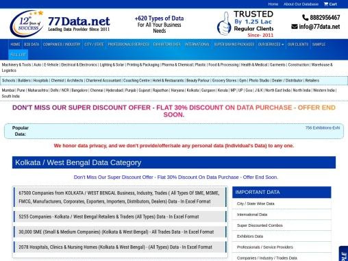 Kolkata Database Provider ! West Bengal Database Provider