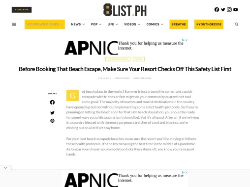 Before Booking That Beach Escape, Make Sure Your Resort Checks Off This Safety List First