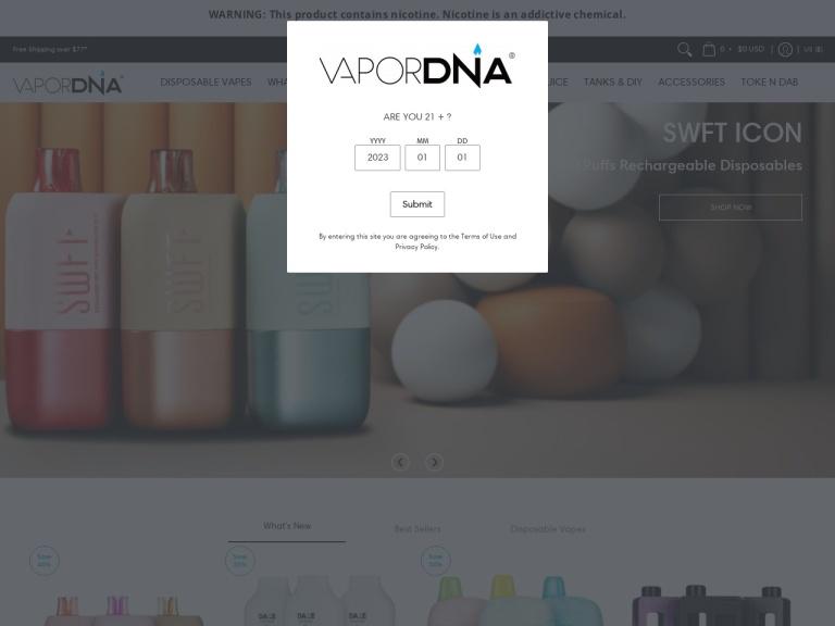 VaporDNA screenshot
