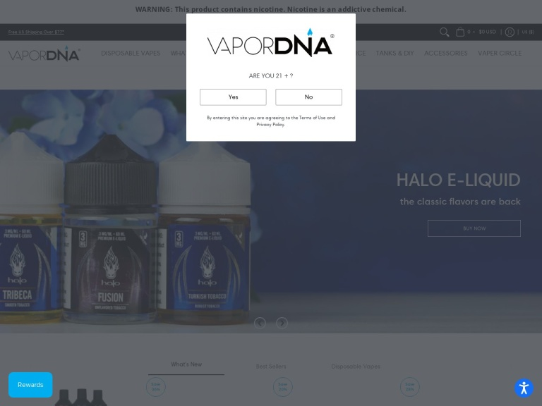 Vapordna screenshot
