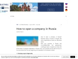 How to open a company in Russia | A.J.CONSULTING