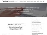 Aalpha sets a new bar & becomes Top App Development Company of 2021