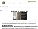 Belgian linen flax, Belgian linen flax