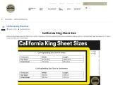 California King Sheet Size, California King Sheet Size