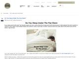 Do You Sleep Under The Flat Sheet