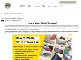 How to Wash Satin Pillowcase?, How to Wash Satin Pillowcase?
