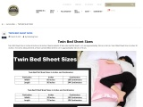 Twin bed sheet size, Twin bed sheet size