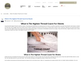 Highest thread count for sheets