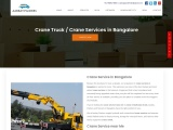 Crane Service in Bangalore Near Me – AarKay Packers